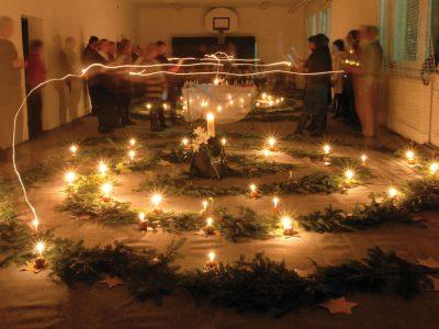 Budapest, 2012.11.30. Adventi kert a kamaraerdei Csillagösvény Waldorf Iskolában